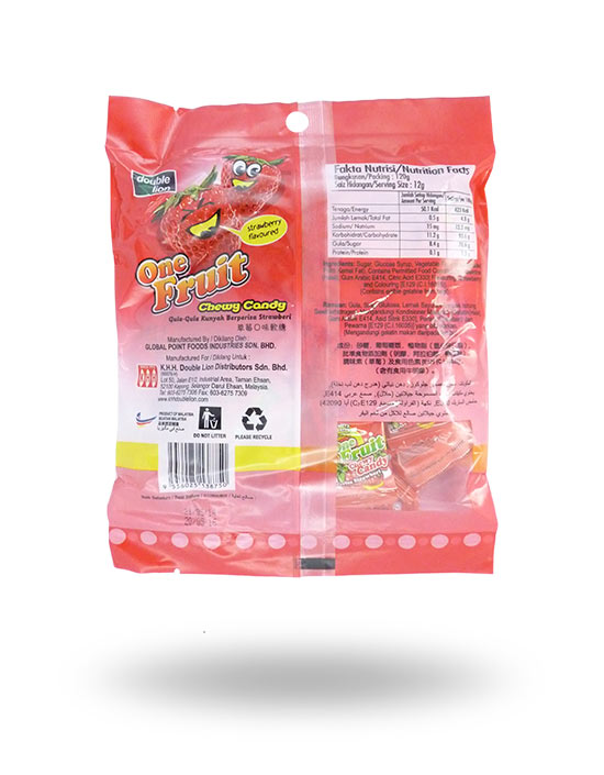 One Fruit Chewy Candy – Strawberry 120g